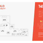 solo floor plan 1a - one bed one bathroom