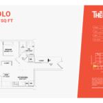 solo floor plan 1b - one bed one bathroom