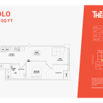solo floor plan 1c - one bed one bathroom