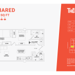 shared floor plan 2a - two bed two bathroom